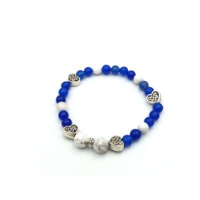 achát kék (festett)